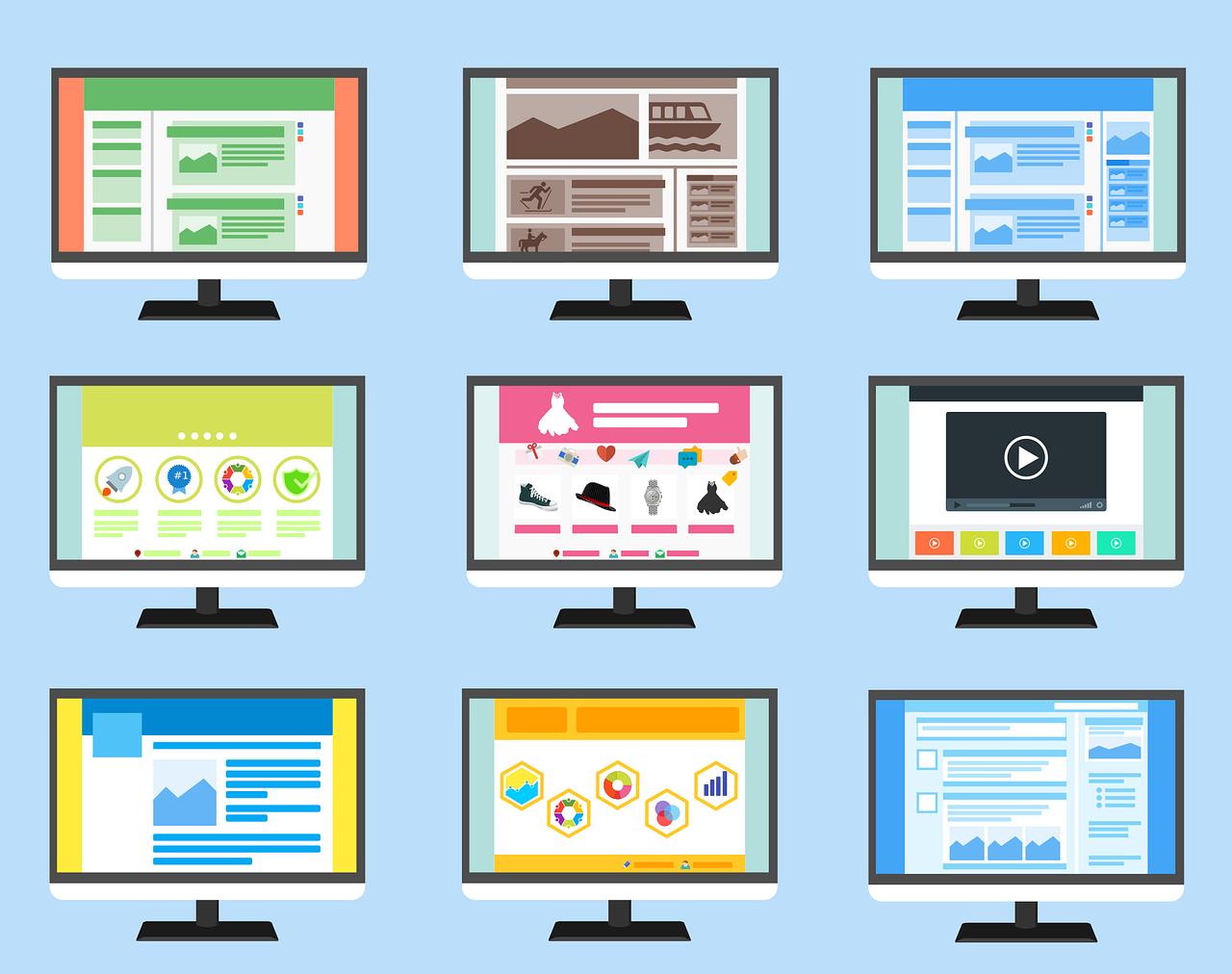 weboldal elrendezés típusok
