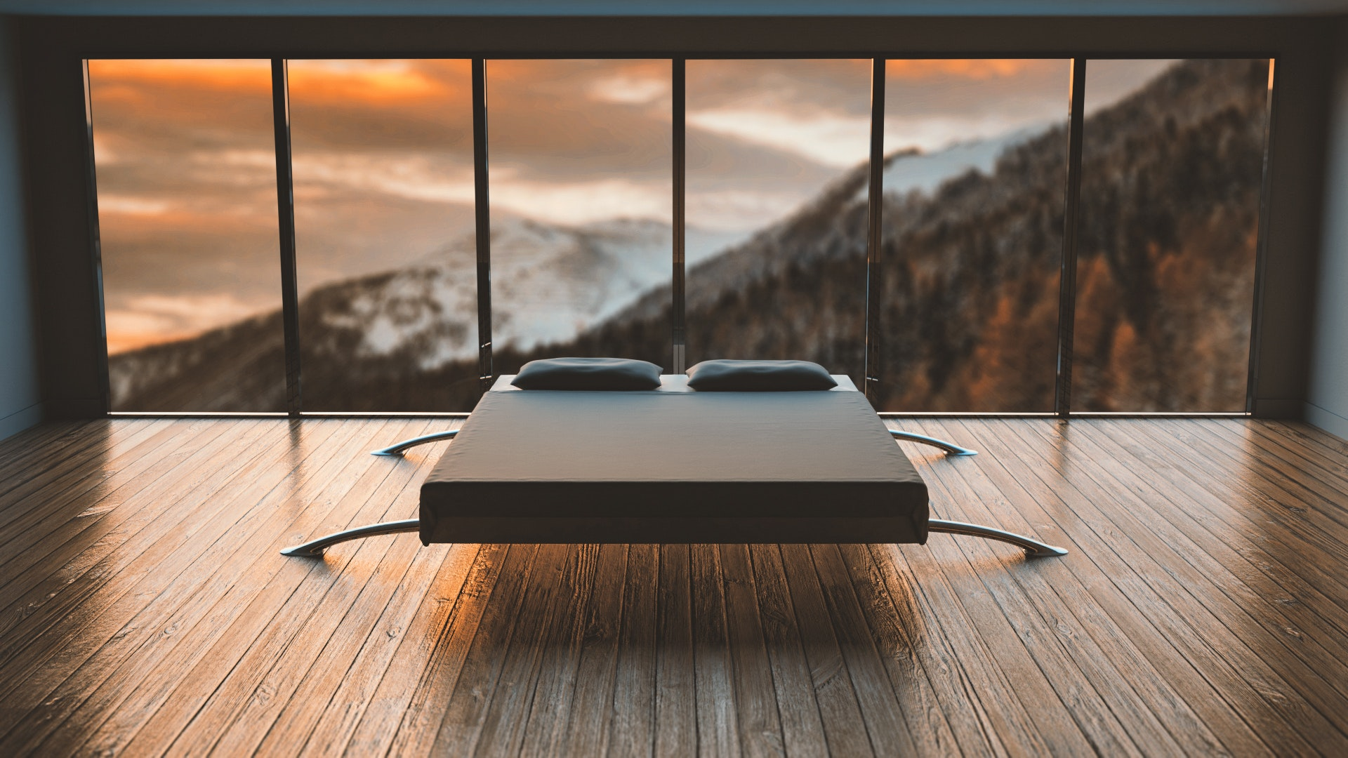 minimalista hálószoba