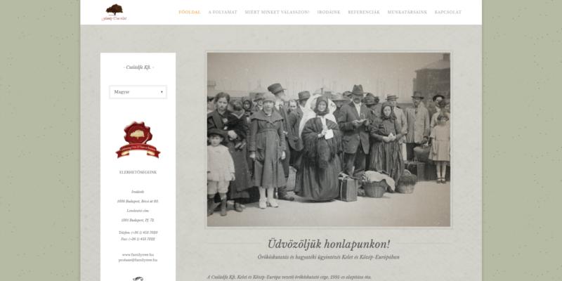 familytree.hu weboldal