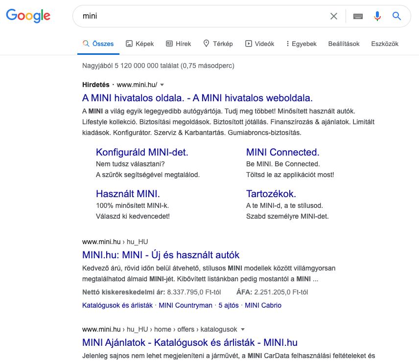 mini szó keresési eredménye