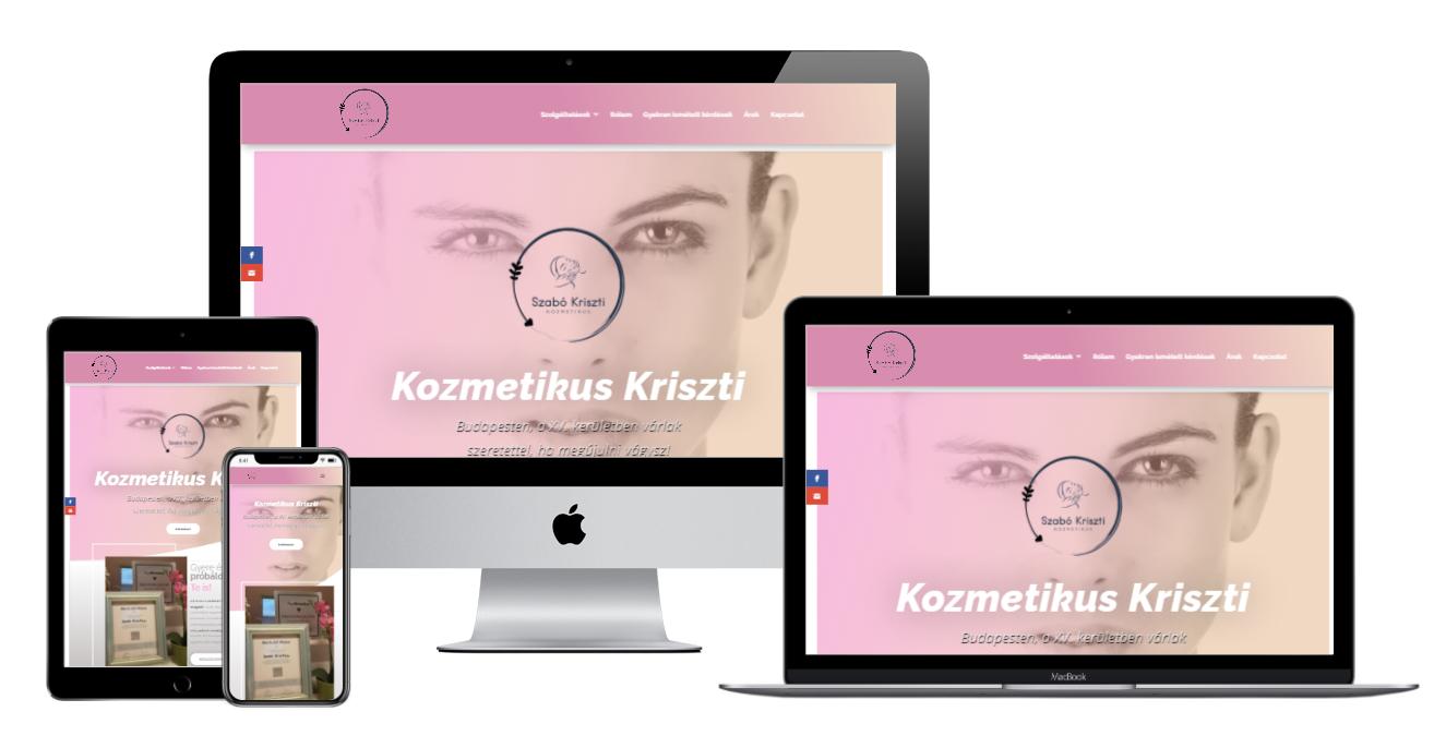 kozmetikuskriszti.hu weboldal